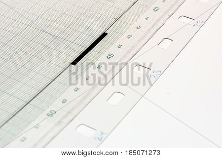 Printing Equipment Rulers Scales Detail Measure Closeup