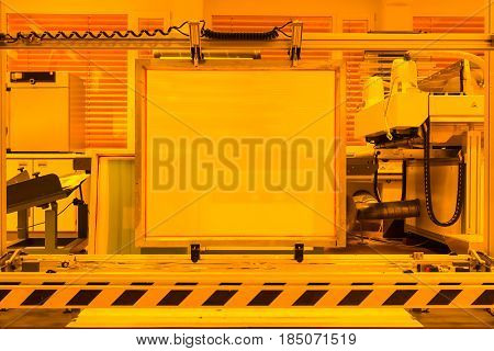 Screen Printing Equipment Development Yellow Room Professional Industry Detail
