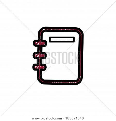 Adress book isolated icon vector illustration graphic design