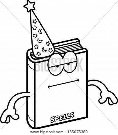 Cartoon Spell Book Bored