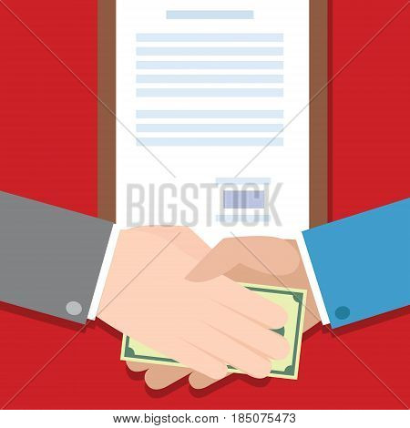 corruption people bribe hand money gratification vector illustration