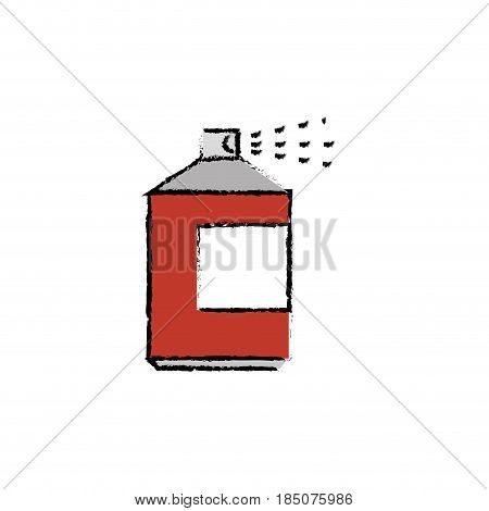 spray bottle icon over white background. colorful desing. vector illustration