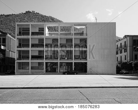 Casa Del Fascio In Como In Black And White