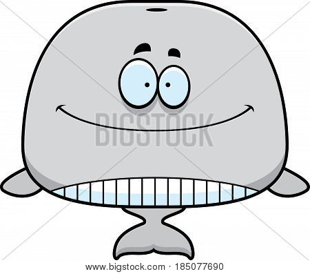 Smiling Cartoon Whale