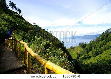 Lake toba (danau toba) in North Sumatra, Indonesia