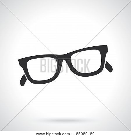 Vector illustration. Silhouette of retro sunglasses horn-rimmed glasses. Patterns elements for greeting cards, wallpapers