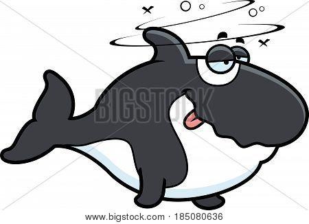 Cartoon Drunk Killer Whale