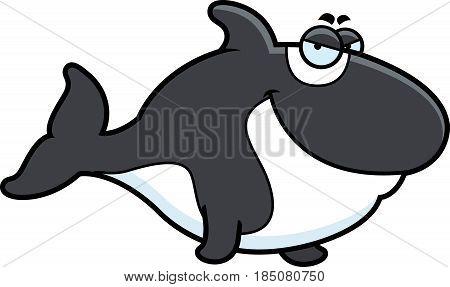 Sly Cartoon Killer Whale