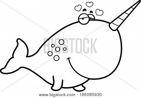 Cartoon Narwhal In Love