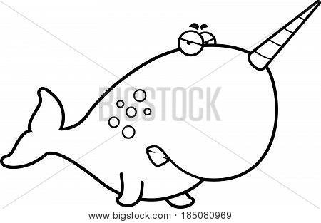 Angry Cartoon Narwhal