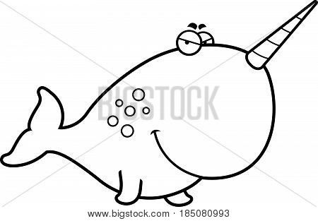 Sly Cartoon Narwhal