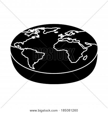 world planet isometric icon vector illustration design