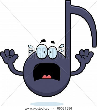 Scared Cartoon Musical Note