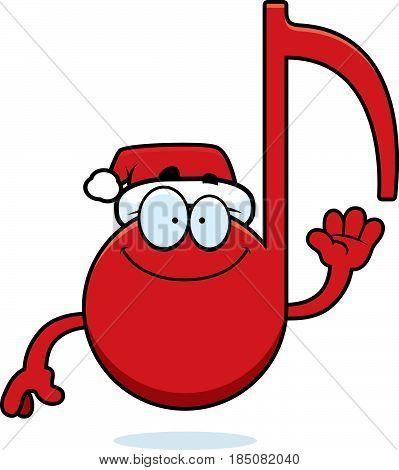 Cartoon Christmas Music Waving