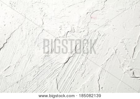 White painted texture with brush and palette knife strokes for interesting and modern backgrounds.