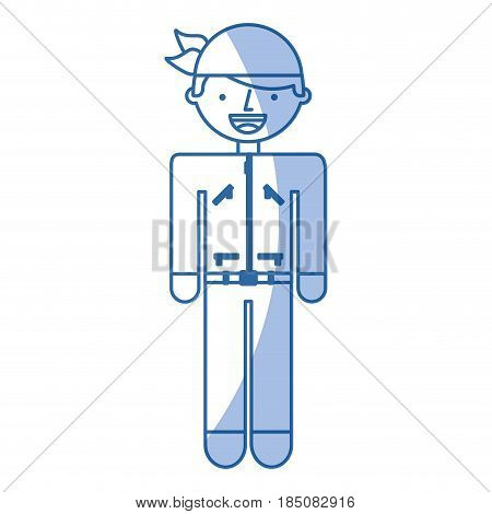man motorcyclist avatar character vector illustration design