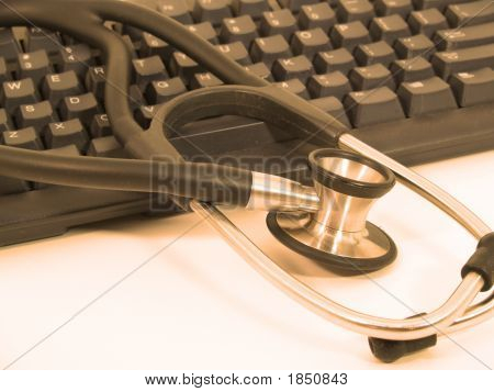 Stethoscope With Laptop - Warm
