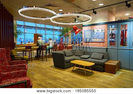 SINGAPORE - CIRCA AUGUST, 2016: Costa Coffee at Singapore Changi Airport. Costa Coffee is a British multinational coffeehouse company.