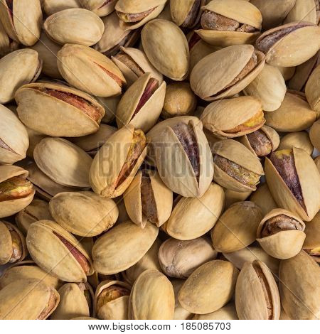 Pistachio texture.Roasted salted pistachio nuts healthy delicious food