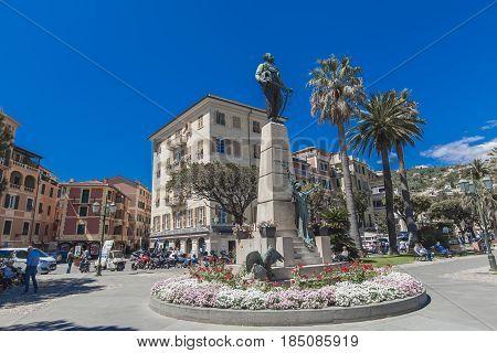 Monument To Vittorio Emanuele Ii In Santa Margherita Ligure