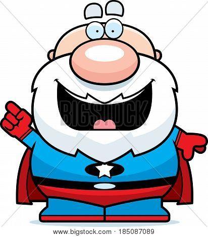 Cartoon Superhero Grandpa Idea