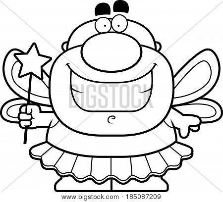 Smiling Cartoon Tooth Fairy