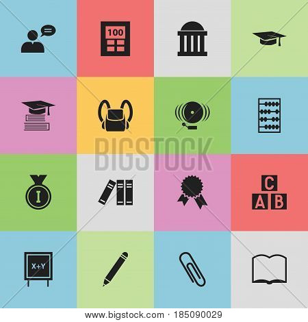 Set Of 16 Editable Science Icons. Includes Symbols Such As Thinking Man, Graduation Hat, First Place And More. Can Be Used For Web, Mobile, UI And Infographic Design.