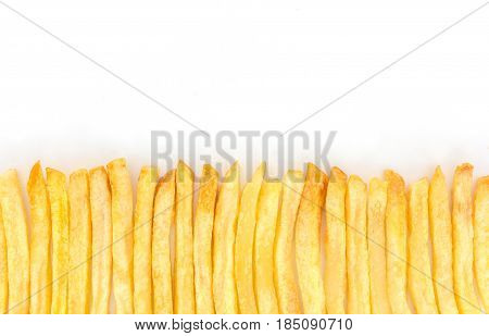 French fries isolated on white background, fast food