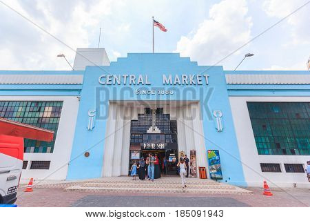 KUALA LUMPUR, MALAYSIA - AUGUST 14, 2016: The market was constructed in 1888 the Pasar Seni Market also known as the Central Market is one of the heritage buildings in Kuala Lumpur.