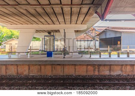 KUALA LUMPUR, MALAYSIA - AUGUST 13, 2016: Rail way Central Station view. It was opened in 1995 owned by Keretapi Tanah Melayu (KTM).