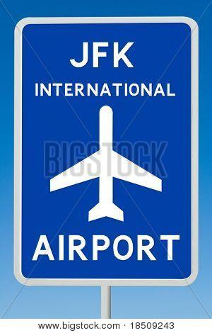 JKF International Airport Sign