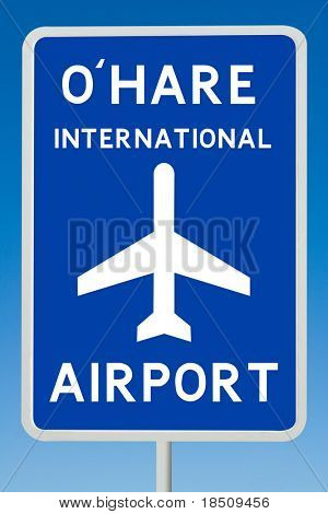 Ohare Airport Road Sign