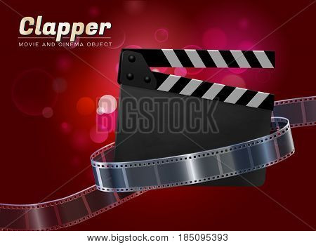 clapper cinema movie theater object on bokeh background v