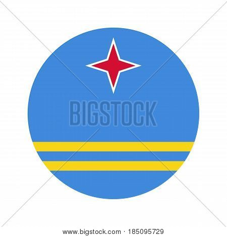 Circular World Flag