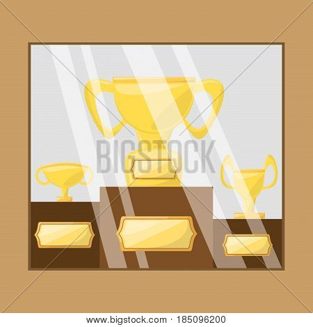 nice trophy to win sport game in the competition, vector illustration