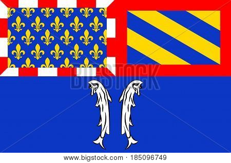 Flag of Montbard is a commune and subprefecture of the Cote-d'Or department in the Bourgogne region in eastern France.