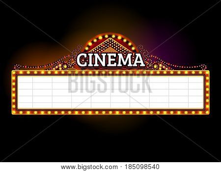 theater sign cinema sign las vegas sign.vector illustration
