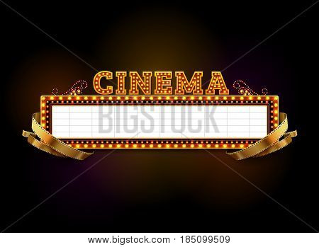 theater sign.cinema sign las vegas sign vector illustration