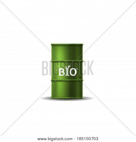 Bio fuel barrel. Green alternative energy, Bio and eco concept