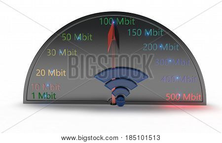 Wifi Speed Concept Of Background, 3D Render
