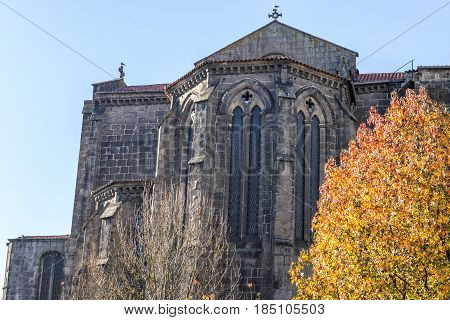 Saint Francis gothic style church in Porto city Portugal