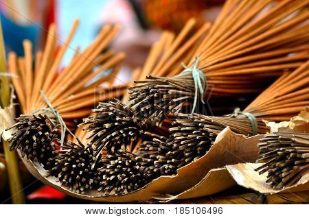Bunch Of Incense Sticks In The Market