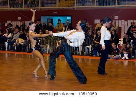 "VALENCIA, SPAIN - JANUARY 24: The ""9th Trofeo de Baile Deportivo Ciudad de Manises"" Dance Competition on January 24, 2010 in Valencia, Spain."