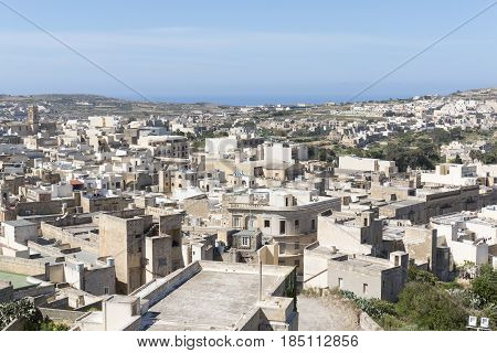 A view of Victoria Gozo taken from the Cittadella