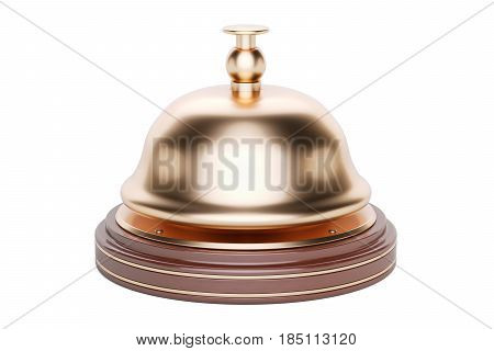 Reception bell 3D rendering isolated on white background