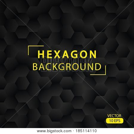 Abstract Hexagon Vector Background.