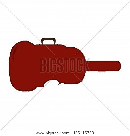 Violin case. Vector illustration of violin case isolated on white background.