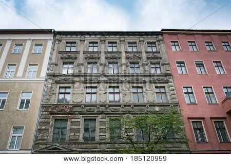 Old Building Facade - Apartment Building Exterior Before Restoration In Berlin