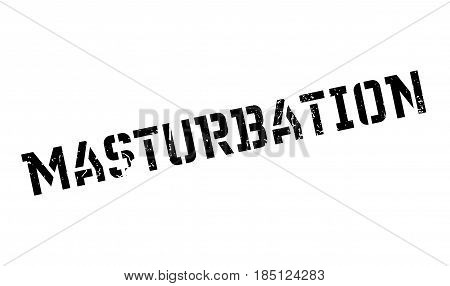 Masturbation rubber stamp. Grunge design with dust scratches. Effects can be easily removed for a clean, crisp look. Color is easily changed.