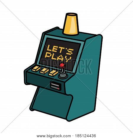 Retro arcade game machine. Lets play video games concept.